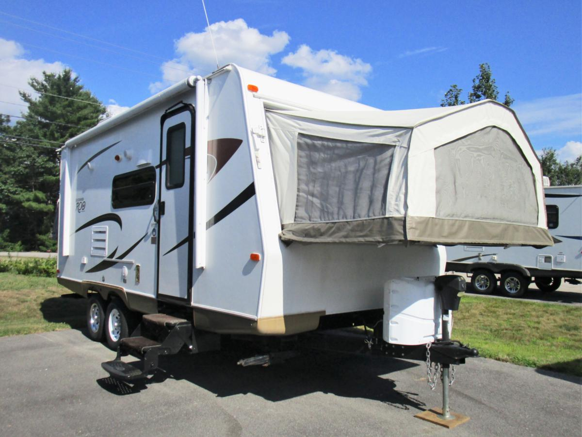 2012 ROCKWOOD ROO 21SS HYBRID TRAVEL TRAILER, 25FT/1 SLIDE